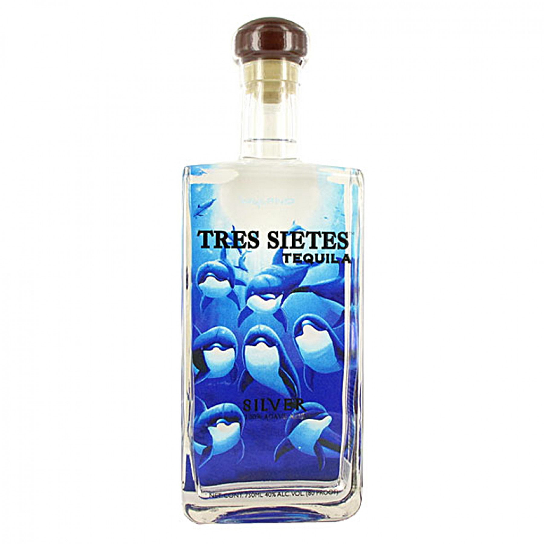 Tres Sietes Silver Dolphin Limited Wyland Edition 750mL