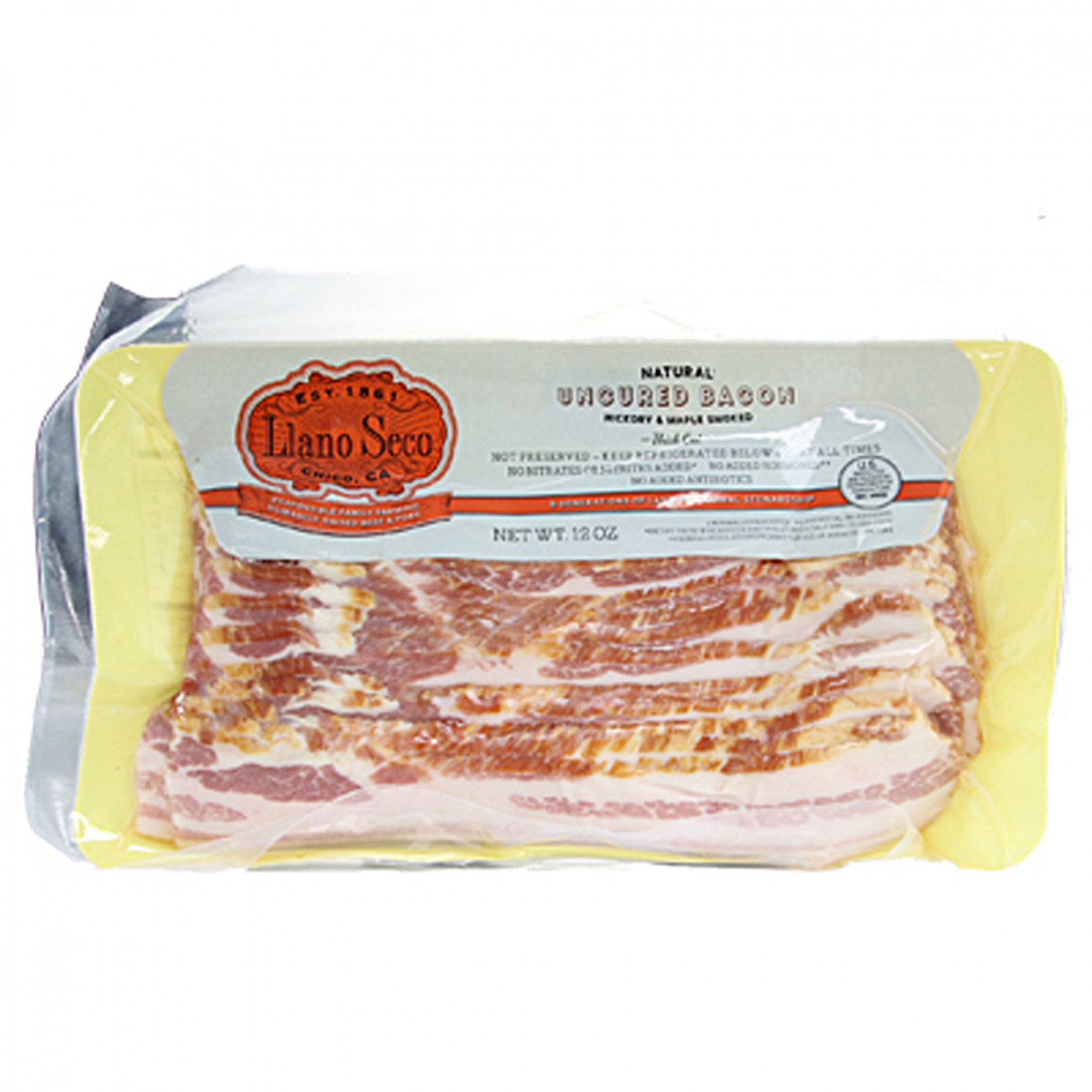 Llano Seco Uncured Sliced Bacon