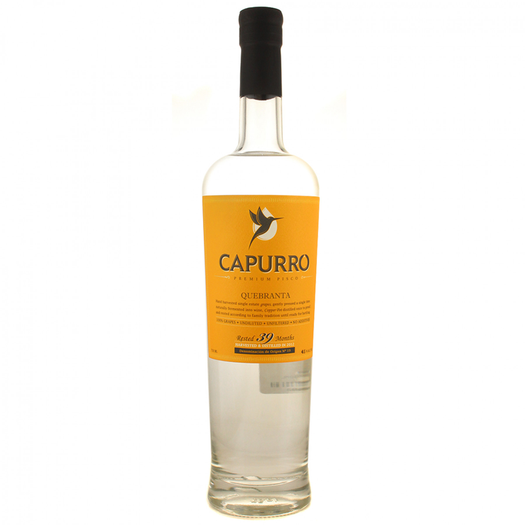 2015 Capurro Quebranta Pisco 750mL